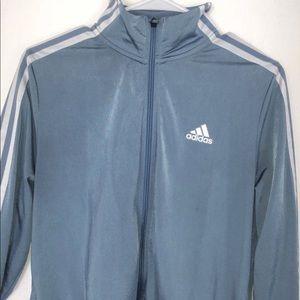 Blue Adidas Zip-up Track Jacket